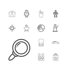 13 set icons vector