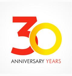 30 circle anniversary logo vector image
