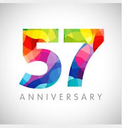 57 anniversary color logo vector