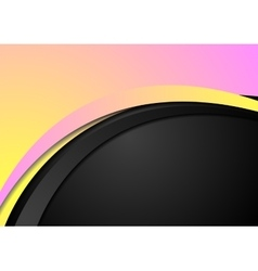 Abstract yellow and pink wavy corporate background vector