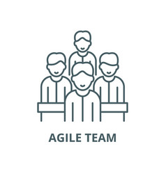 Agile team line icon outline concept vector