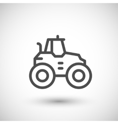 Agricultural tractor line icon vector