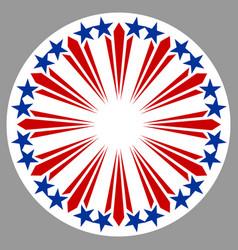 american round symbol emblem logo vector image