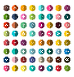 arows icons set for app arrow in circle set vector image