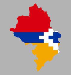 Artsakh nagorno karabakh republic map flag vector