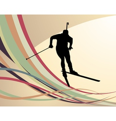 Biathlon background vector