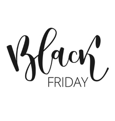 Black friday hand written inscription vector image