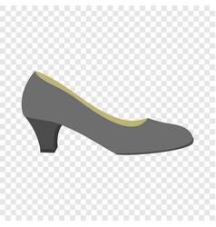 black woman shoe icon flat style vector image