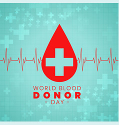 Blood donation day international event poster vector