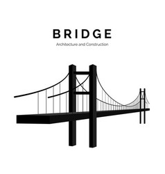 Bridge architecture and constructions bridge icon vector
