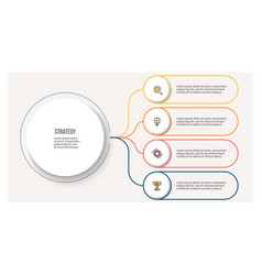 business infographic circular chart with 4 vector image