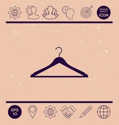 clothes hanger icon vector image