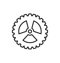 Cog gear machine part icon graphic vector