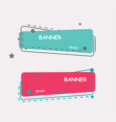 color web banners vector image