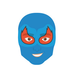 Colorful silhouette with man superhero masked with vector
