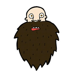 Comic cartoon bearded man vector