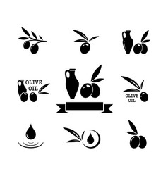 Concept olive product symbol set vector