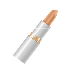 elegant beige lipstick in beige color isolated on vector image