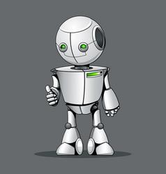 Funny kid robot showing ok vector