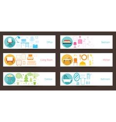 Furniture Concept Banner vector image