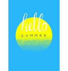 Hello summer Typographic summer design card vector image