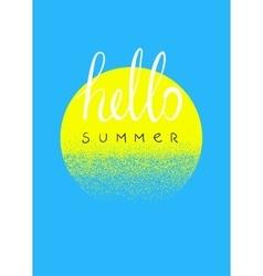 Hello summer typographic summer design card vector