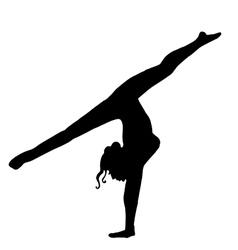 High quality original girl gymnastic doing splits vector