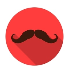 Hipster mustache icon in flat style isolated on vector image