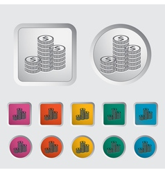 Icon coins vector image vector image