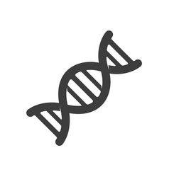 icon dna black on white vector image