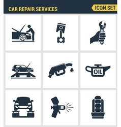 Icons set premium quality of car repair services vector image