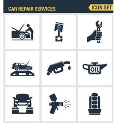 Icons set premium quality of car repair services vector