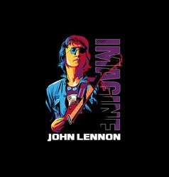 imagine john lennon vector image