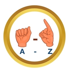 Language hand sign icon vector