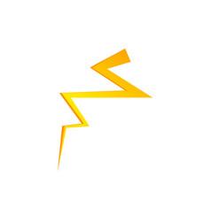 lighting thunder bolt flash yellow icon set vector image
