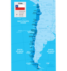 Map chile vector