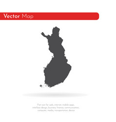 map finland isolated black vector image
