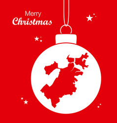 merry christmas theme with map of boston vector image