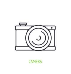 modern digital camera outline icon digital vector image