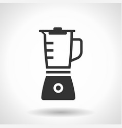 monochromatic blender icon with hovering effect vector image