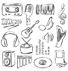 music doodle images vector image