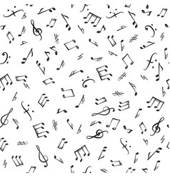 Music notes elements seamless pattern musical vector