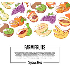 Natural eco farming poster vector