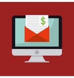 Online payment computer vector
