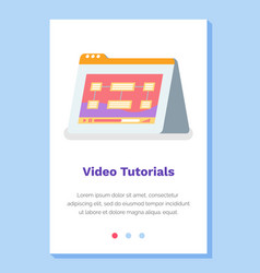 online video tutorials concept website landing vector image