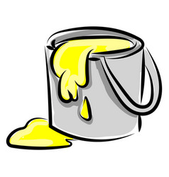 paint bucket on white background vector image