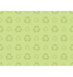 pattern with recycle icons vector image