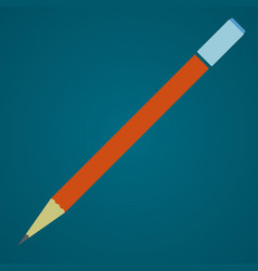 pencil with eraser schools supplies vector image