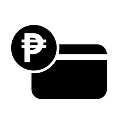 Peso icon credit card icon vector