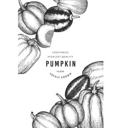 pumpkin color design template hand drawn vector image